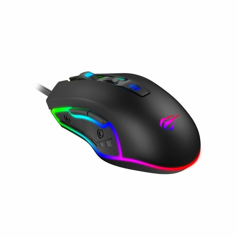 Havit Gamenote MS1018 RGB gamer egér 1000-3200 DPI, fekete