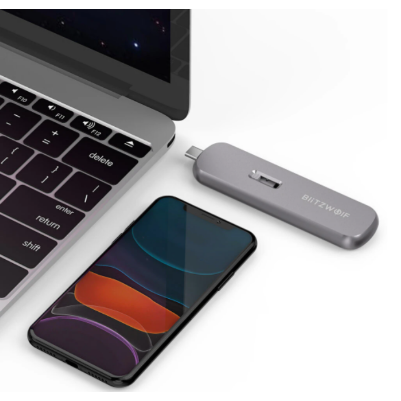WD Blue 2TB Hordozható külső SSD Blitzwolf BW-SSDE4 B-key 5Gbps hordozható USB 3.1 M.2 SATA SSD házban