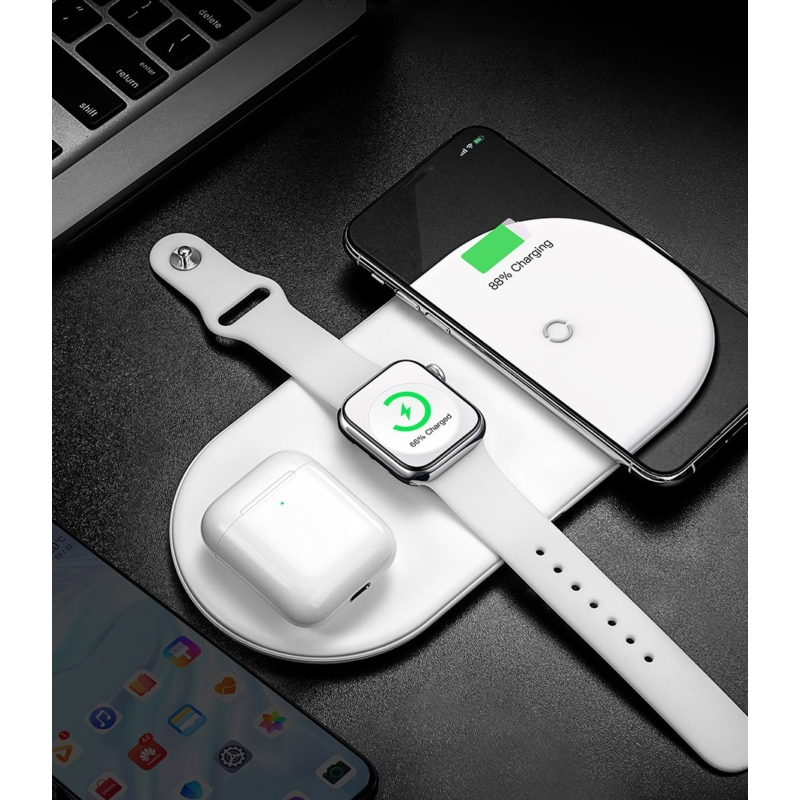 Baseus Smart 3in1 inductive charger for smartphone, Apple Watch, AirPods, 18W