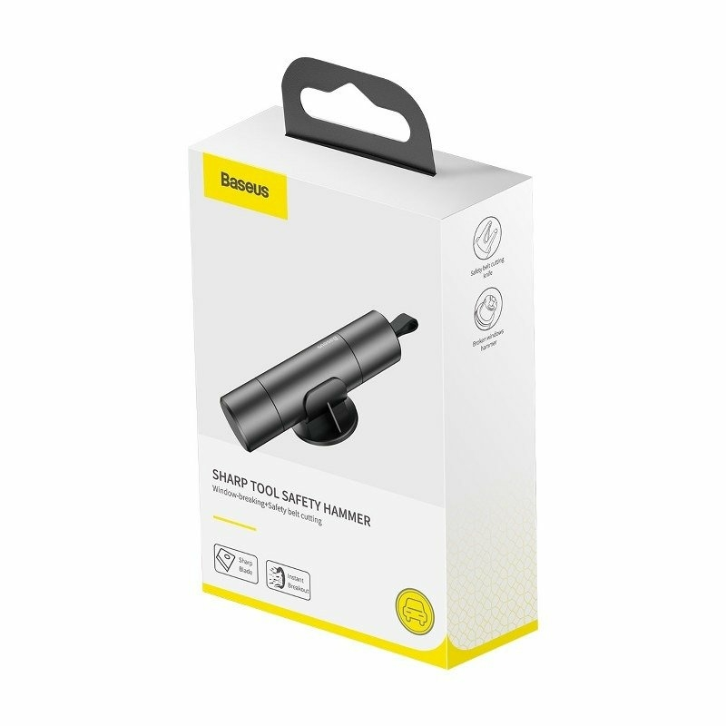 Baseus Sharp Tool Safety Hammer Autós Biztonsági Eszköz Ablaktörő, Heveder Vágó