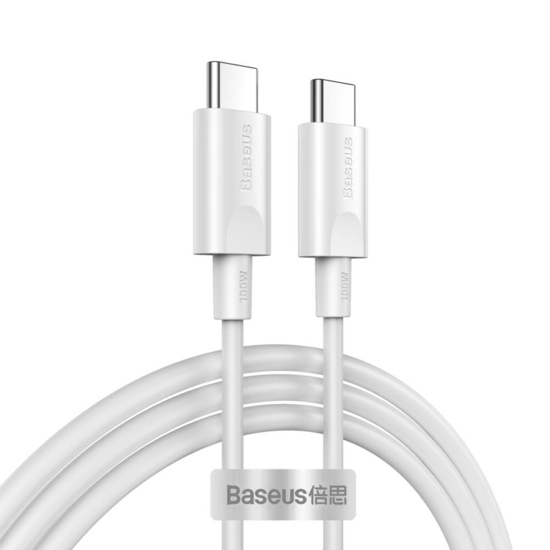 Baseus Xiaobai Type-C to Type-C  1.5m fekete100W(20V/5A)gyorstöltő  kábel